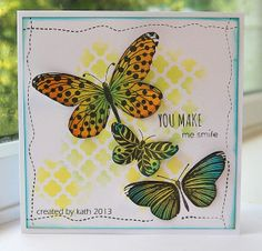 8/3/2013; Kath at 'Kath's Blog......diary of the everyday life of a crafter;' Penny Black's Social Butterffly stamp set