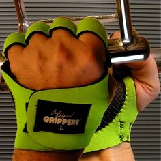 Weightlifting Gripper Gloves Fingerless  www.BeBodySmart.com