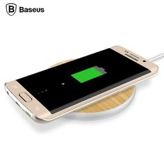 Charge Your Mobile Devices 3X Faster! Portable Bamboo Wood Wireless Charging Pad For Android Devices