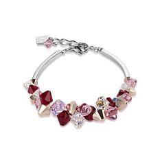 Coeur de Lion Armband GeoCUBE rot,rosa,rosé 4884/30-0300 #armband #weihnachten #weihnachtsgeschenk #rosé #vergoldet #rose #damen #swarovski #glas #geschenk #schmuck Swarovski, Pandora Charms, My Best Friend, I Am Awesome, Diamonds, Charmed, Friends, Bracelets, Jewelry
