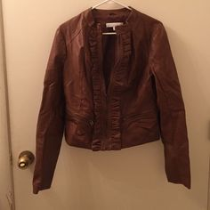 Faux leather jacket Never worn New York & Company Jackets & Coats