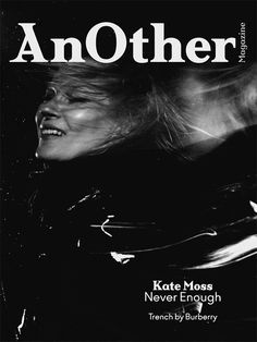 Kate Moss on the digital cover of AnOther