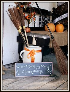 Getting Ready for Halloween:  Porch Ideas