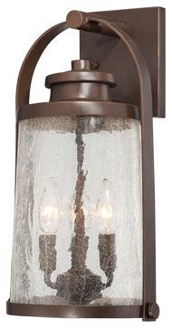 The Great Outdoors 72332-291 3 Lt Outdoor Wall Mount - rustic - Outdoor Wall Lights And Sconces - Lighting Front