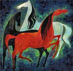 Three Noble Horses - Eyvind Earle