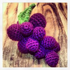 #crocheted grapes