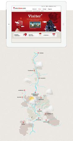 International Platform for brand Rhone wines - Web agency paris, design and web development and mobile application