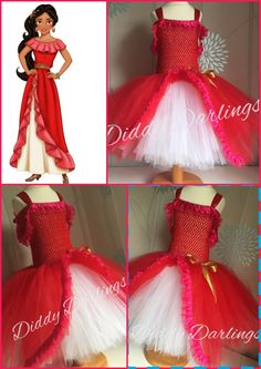 Princess Elena Of Avalor Tutu Dress. Inspired Handmade All Sizes Fully Customised Halloween Christmas Party Fancy Dress Elena Costume by DiddyDarlings on Etsy
