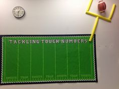 Sports theme classroom: math bulletin board