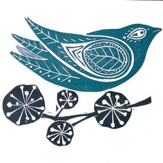 Amanda Colville Linocut Prints - Amanda Colville is an artist and printmaker with a love of pattern and print. Using traditional printmaking techniques to produce linocut prints and designs, she uses a mangle as a printing press from her home in Norfo. Stamp Carving, Linoprint, Pintura Country, Tampons, Linocut Prints, Bird Prints, Art Plastique, Bird Art, Letterpress