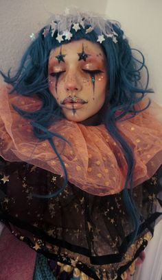 New photography fantasy portrait hair 32 Ideas Fantasy Makeup Fantasy Hair Ideas Photography portrait Maquillage Halloween, Halloween Makeup, Scary Halloween, Cute Clown Makeup, Scarecrow Makeup, Alien Makeup, Halloween Costumes, 80s Makeup, Halloween Photos
