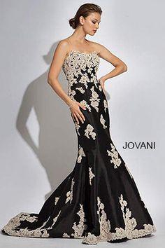 Black Mermaid Prom Dress 89462