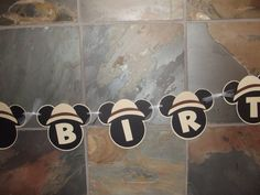 Safari Jungle Mickey Mouse Inspired Banner by whimsycreationsbyann