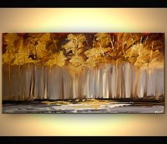 ORIGINAL Tree Painting 48 Abstract Contemporary by OsnatFineArt, $450.00