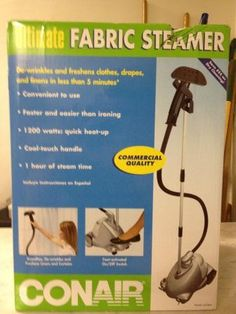 Conair Ultimate Fabric Steamer in AuctionHunters' Garage Sale in Roanoke , VA for $50. This is a brand new Conair Ultimate Fabric Steamer still in it's original box and sealed! This is perfect for cleaning drapes and clothes!