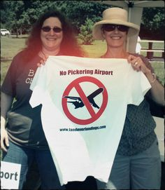 Joanne Azevedo and Audrey Morgan show off our new T-shirt. Have you ordered yours yet?