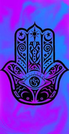 Hamsa iPhone Background mountain ocean tumblr evil eye ...