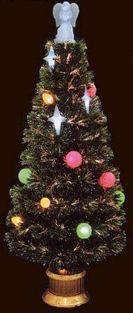 "HomeBrite 48"" Fiber Optic Christmas Tree w/ Angel Top"