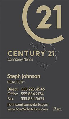 Century 21 Business Cards With New Logo 56 New Designs To Choose From Business Cards Business Card Design Real Estate Business Cards
