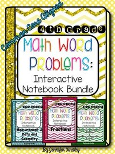 Interactive Math Notebook with Word Problems! Common Core Aligned to the 4th Grade Standards $