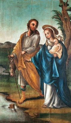 Nsra do Desterro Religious Pictures, Bible Pictures, Caravaggio, Catholic Art, Religious Art, Old And New Testament, Faith In Love, Holy Family, Christmas Nativity