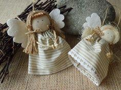 Handmade Angels, Xmas Decorations, Nativity, Dolls, Christmas Ornaments, Holiday Decor, Fabric, Italian Christmas, Fabric Dolls