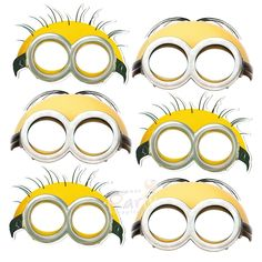 Pack of 6 Minions party masks. Discount Party Supplies for all your Despicable Me party supply needs. Minion Party Supplies, Minion Party Favors, Minion Theme, Despicable Me Party, Discount Party Supplies, Minion Birthday, 1st Boy Birthday, Minion Mask, Minion Goggles
