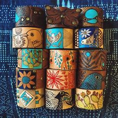 gorgeous and hand made bracelets by Santa Fe artist