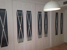 Espectacular frente de armario lacado en blanco con aspas Closet Design, Deco