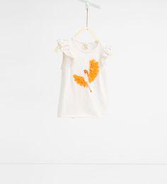 T-shirt à oiseau appliqué-Tout Afficher-T-SHIRTS-FILLES | 4-14ans-ENFANTS | ZARA Canada