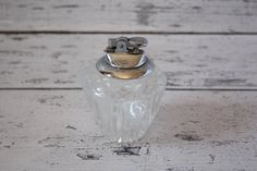 Vintage Cut Crystal Table Lighter Silver Top Reads Gas Silver Top Has Flint Made in Japan Hollywood Regency Glam Heavy Glass Cigarette