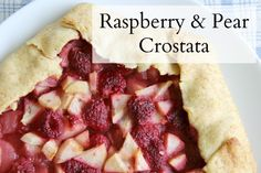 Delicious and simple raspberry pear crostata—a yummy Italian pastry. Can't wait to try!
