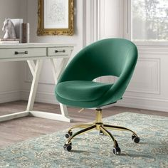 Kelly Clarkson, Chair Upholstery, Upholstered Chairs, Modern Desk Chair, Teal Desk Chair, Desk Chair Teen, Cool Desk Chairs, Floating Desk, Home Office Decor