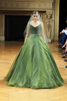 Novia con vestido verde - Alexis Mabille Haute Couture