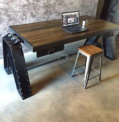 CRUZ DESK / TABLE by IRONCLADVINTAGEINDUS on Etsy