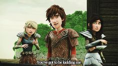 "Haha Hiccup and Heathers faces! Heathers like... ""Just walk away, just walk away..."" And Hiccups like... ""Gross..."" XD"