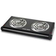 The Black and Decker Double Burner Buffet Range features space-saving design. This black and decker double burner buffet range comes with adjustable temperature knobs. It is an essential choice for your kitchen. Small Kitchen Appliances, Cool Kitchens, Keep Food Warm, Buffet Server, Cooking For A Crowd, Portable, Countertops, Plates, Ebay