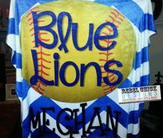 Personalized Sports Team Blanket by RebelChickBoutique on Etsy, $55.00