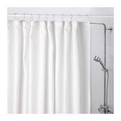 Ikea Addarn Shower Curtain White Fabric Shower Curtains