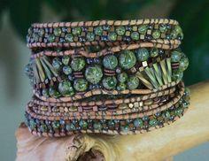 FANFARE Alligator Jasper 4 Wrap Bracelet by BraceletsofBlueRidge