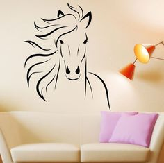 Buy Horse Decal Mustang Horse Animal Vinyl Wall Decal Art Sticker Decor Stencil Horse Decor Horse Wall Decal Horse Stickers Horse Wall Art at Wish - Shopping Made Fun Horse Wall Decals, Horse Wall Art, Vinyl Wall Decals, Wall Stickers, Horse Mural, Stencil Stickers, Horse Stencil, Stencil Art, Sticker Art