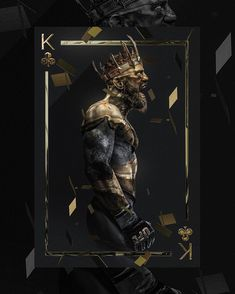 """King"" Conor McGregor art by Conor Mcgregor Wallpaper, Mcgregor Wallpapers, Black And Gold Aesthetic, Sculpture Art, Sculptures, Or Noir, Hypebeast Wallpaper, Glitch Art, Aesthetic Art"