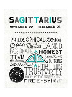 "Sagittarius Zodiac Sign Art Print Zodiac Sign Art - Illustration by Michael Mullan - Printed on 13x19"" archival, acid-free Epson Velvet Fine Art Paper - Shown in 11x14 - Frame not included"
