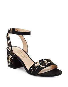 Nanette By Nanette Lepore Ruby Embroidered Sandals Women's Black 7
