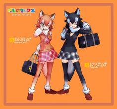 Anime Neko, Kawaii Anime, Anime Art, Japanese Wolf, Serval Cats, Anime Wolf Girl, Kemono Friends, Gray Wolf, Anime Animals