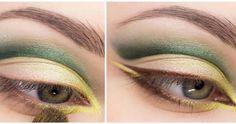 Maquillaje para el día con sombras en tonos verdes paso a paso