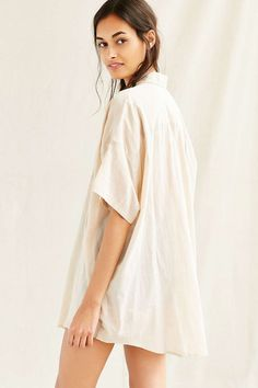 Mixed Business Classic Oversized Shirt - Urban Outfitters