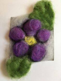 Pansy, garden pansy card, needle felted flower card, flower card