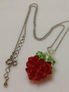【ハンドメイド】苺のボールチェーンネックレス インテリア 雑貨 Handmade necklace ¥900yen 〆04月29日