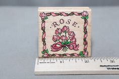 Rose Square E1025 1996 Hero Arts USA Wood & Foam Backed Rubber Stamp                    http://HomeTownVintage.com/ Great Sale 50% off All Our Stamps!! Lots of Vintage Scrap Booking Stamps From PSX (Personal Stamp Exchange), Hero Arts, Fearless Designs, Stampin Up!, DOTS and many more  Also Find us on:  http://hometownvintage.com http://autopartspuller.com @HomeTownVintage @autopartspuller @preppershowto http://facebook.com/hometownvtg http://facebook.com/AutoPartsPuller